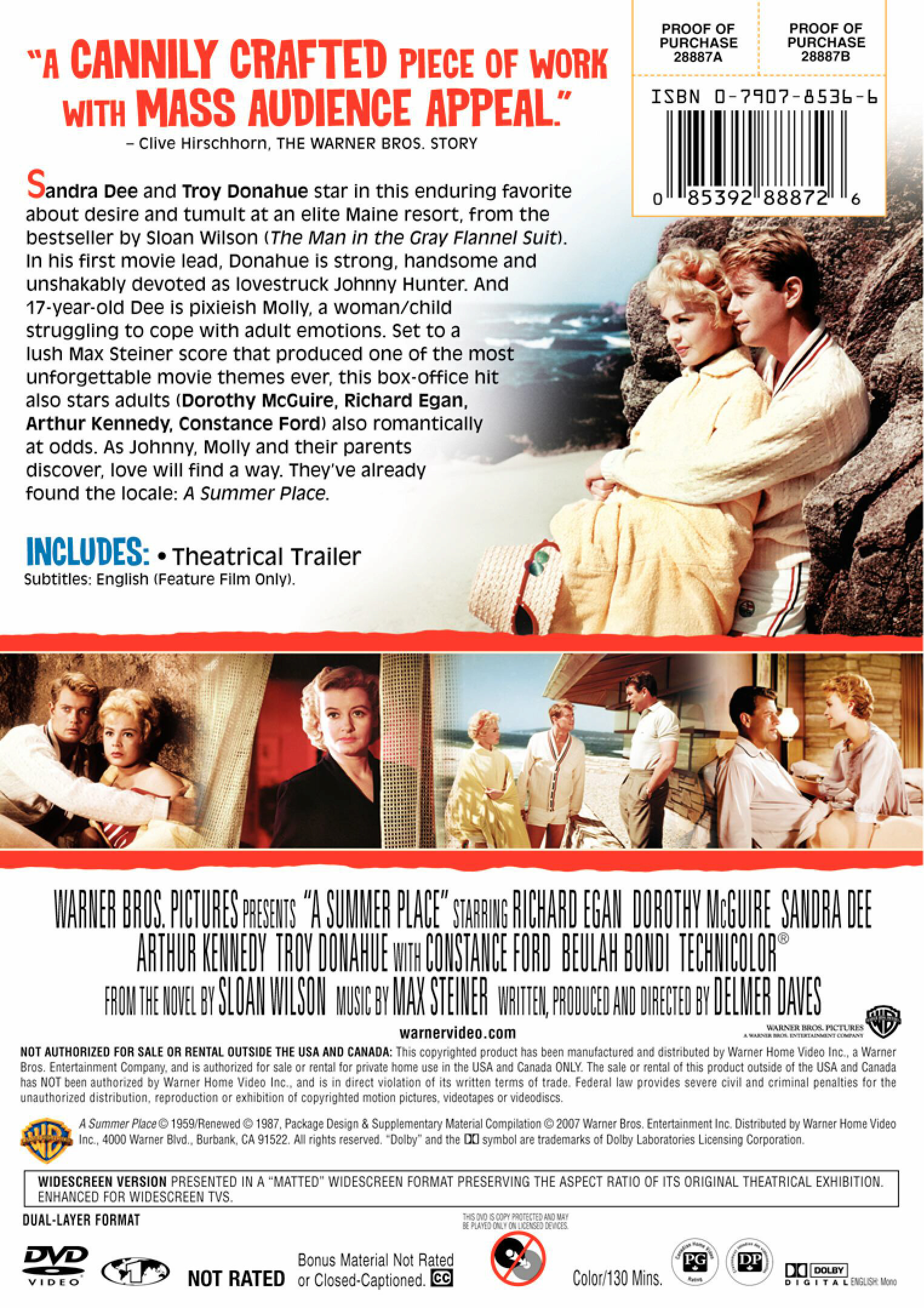 a summer place dvd review page